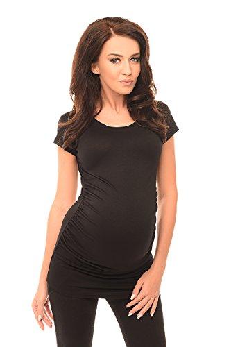 Purpless Maternity Umstands T-Shirt Schwangerschaft Top 5010 (40 (UK 12), Black) (Baby Bump-monitor)