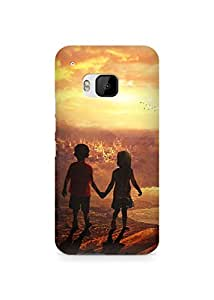Amez designer printed 3d premium high quality back case cover for HTC One M9 (Beautiful kids)