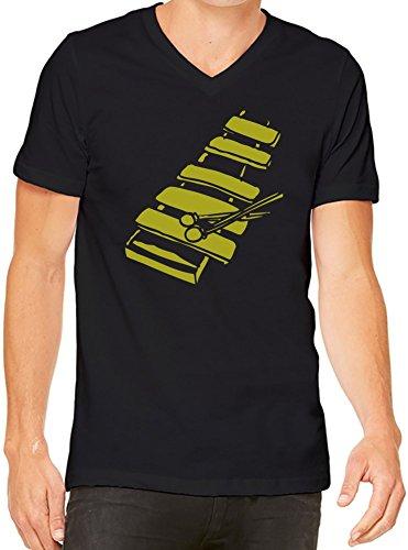 Xylophone Herren V-Ausschnitt T-Shirt XX-Large