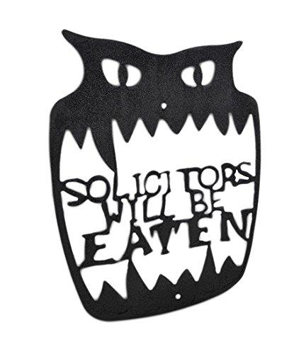 'Rechtsanwälten wird gegessen' Wandschild aus Metall