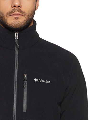 Columbia Herren Fleecejacke, mit durchgehendem Reißverschluss, Fast Trek II Full Zip Fleece, Microfleece Polyester, schwarz, Gr. S, AM3039 - 5