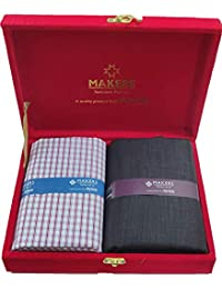 Raymond Fabrics Makers Men's Viscose Unstitched Shirt and Trouser Fabric Combo Gift Pack (Multicolour, Free Size)