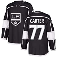 Carter # 77 Kings Hockey sobre Hielo Jersey de Manga Larga Masculino Hockey sobre Hielo Ropa Deportiva Competencia Equipo Entrenamiento Uniforme Fan Jersey Real Jersey Negro S-XXXL-XXXL