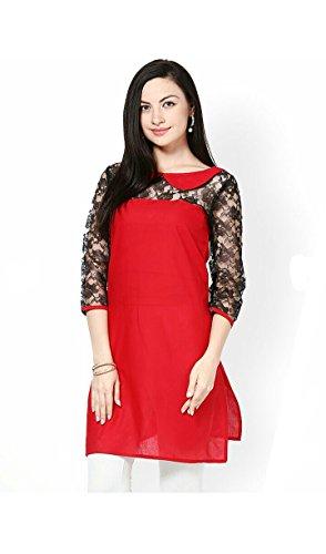 Anjushree Choice Women\'s Cotton Kurti (ASC033_XL_42_Red)