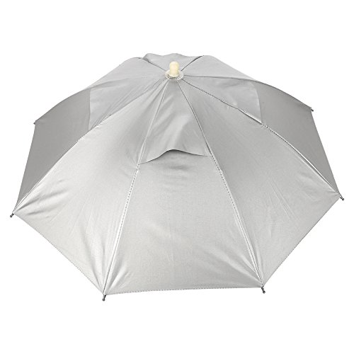 TOPINCN Schirmmütze Kopfschirm Outdoor Faltbar Regenschirm Schirm Schirm Schirm Schirm Schirm Schirm Abdeckung Faltbar Wasserdicht Elastisch Golf Camping Fisch Strand Sole ()