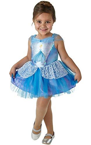 Rubie 's 640178s Offizielles Disney Prinzessin Cinderella Ballerina Kinder Kostüm-Größe 3-4Jahre, Höhe 104cm, klein (Cinderella Ballerina Kleinkind Kostüm)