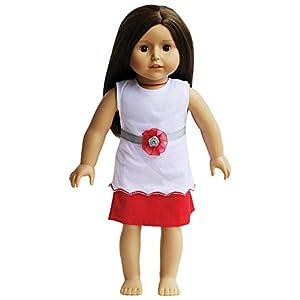 The New York Doll Collection Top Blanco y Falda roja Traje de muñeca de 45 cm (10325082)