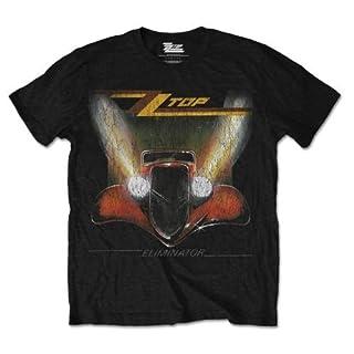 ZZ Top Men's Eliminator Short Sleeve T-Shirt, Black, Large