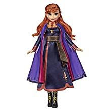 Disney Frozen Singing Anna Doll with Music in Lilac Disney Frozen 2 Dress Toy for Ages 3 Years and Up (German Language)