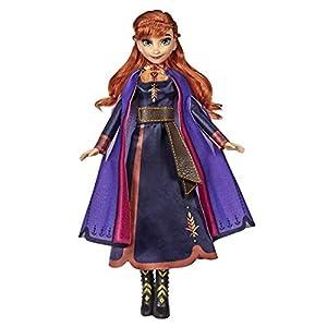 Disney Frozen - Muñeca de Anna con música en Color Lila Vestido Frozen 2, Juguete para niños a Partir de 3 años