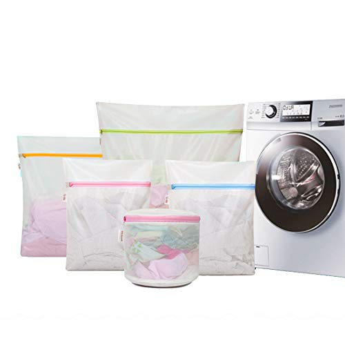 Jiuyizhe Set mit 8 Mesh-Wäschesäcken, 2 große, 2 mittlere, 2 kleine, 1 extra große und 1 Unterwäsche-Tasche (Color : Clear, Size : One Set)