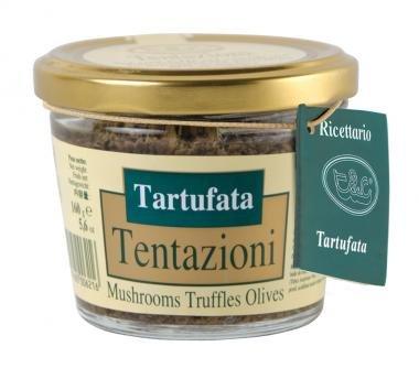 Trüffelsauce Salsa Tartufata - Italienische Creme aus Pilzen, schwarzen Oliven und Sommertrüffeln 180g (Provinz-creme)