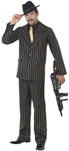 Horror-Shop Costume de gangster gangster de à fines rayures 7c5d37