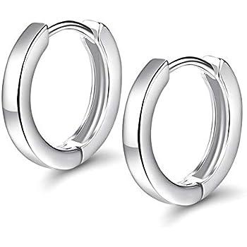 Simple Basic Thin Flat Huggie Hoop Kpop Earrings For Women