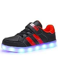 6df6dc0ba93ee Axcer LED Scarpe Sportive per Bambini Ragazze e Ragazzi 7 Colori USB Carica  Lampeggiante Luminosi Running