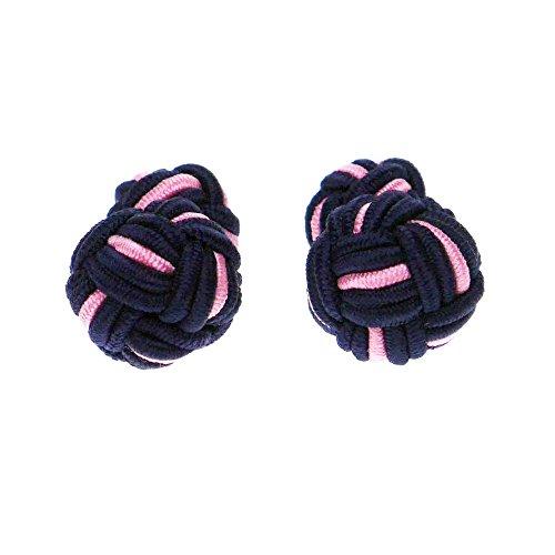 Honey Bear Boutons De Manchette Ronde Multicouleur Homme Poignet Col En Textile-Anniversaire Cadeau rose et noir