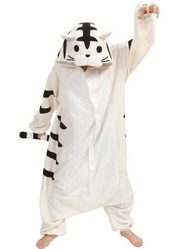 Honeystore Unisex Tier Cartoon Tiger Cosplay Erwachsene Schlafanzug Jumpsuit Pyjamas (Kostüme Für Schwein Teenager)
