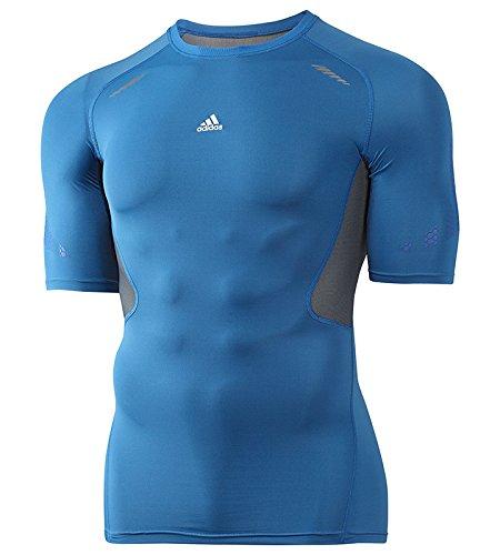 Adidas - Maglia Termica Di Compressione Da Uomo, Colore Azzurro, Taglia S