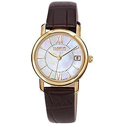 Dugena Damen-Armbanduhr RONDO PETIT Analog Quarz Leder 7000157