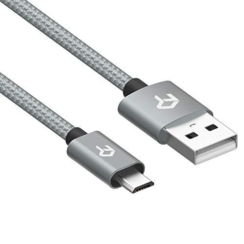 Rankie Micro USB Kabel, Nylon Geflochtene Extrem Haltbare Mikro USB Kabel Schnelle Geschwindigkeit USB 2.0 A Male auf Mirco B Sync und Ladekable, 1,8 m (6ft Usb Geflochten)
