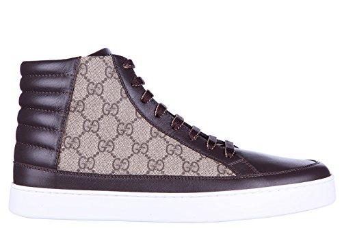 gucci-scarpe-sneakers-alte-uomo-nuove-gg-supreme-beige-eu-44-411857-a9ln0-2167