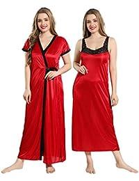 9fba4a94f4 Amazon.in: Reds - Nighties & Nightdresses / Sleep & Lounge Wear ...