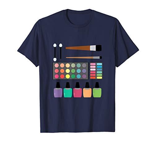 Make-up Lidschatten Farben Palette Nagellacke T-Shirt