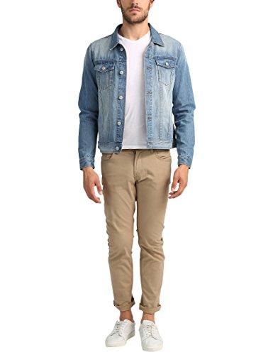 James Tyler Veste en jean pour homme Bleu Clair