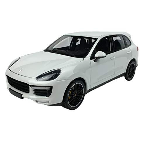 GAOQUN-TOY 1: 18minichamps Porsche Cayenne Turbo S Modèle de Voiture en Alliage Cayenne (Couleur : Blanc, Taille : 27cm*11cm*10cm)