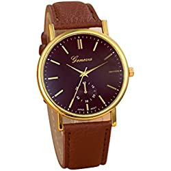 Tonsee Men Watches Unisex Leather Band Analog Quartz Vogue WristWatch