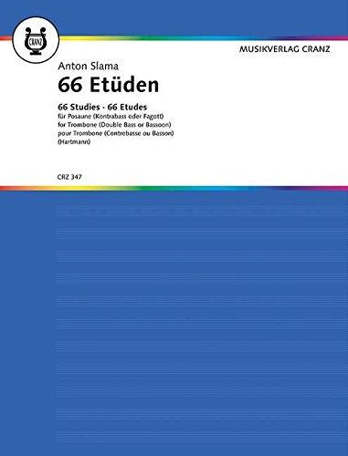 66 Etüden: in allen Tonlagen. Posaune (Kontrabass/Fagott).