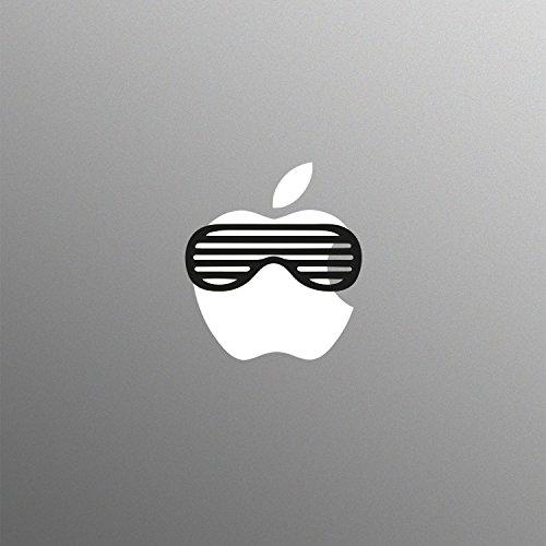 Gestreifte Sonnenbrille Aufkleber für 13 15 17 Zoll Apple MacBook / Pro / Air Laptop
