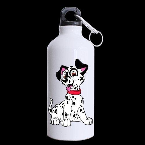 Diseño de 101Dálmatas perro personalizadas personalizado taza de viaje botella de aluminio Deportes botellas de agua Color blanco 13,5Oz (dos lados impresos)