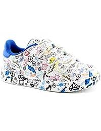 Primigi 3452411 Bianco Blu Scarpe Bambino Strappo Sneakers Basse Pelle c1a2615db21
