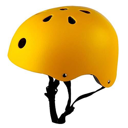 jiujin Casco de Ciclismo para ni/ños patinando Hip-Hop Casco Duro Adulto Equipo de protecci/ón Ajustable Transpirable c/ómodo Casco de Bicicleta