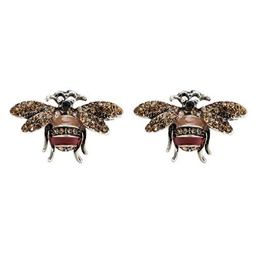 Beliebte Staat Kostüm Von - Fliege MÄNNER Legierung Material Tropfen Öl Acryl Diamant Biene Ohrringe Frauen Europa Mode die Vereinigten Staaten High-End-personalisierte Ohrringe
