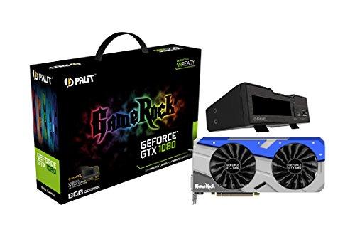 Palit GeForce GTX 1080 NEB1080T15P2GP PCI-e Gamerock mit G-Panel 8GB 256Bi Grafikkarte grau