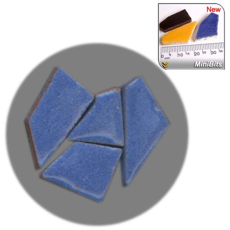 Faience Azul - Mini Mosaïque (MiniBits), 50g, Azul Real,