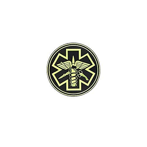 Copytec 3D Rubber para Medical Patch Sanitäter Feuerwehr Alfashirt Aufnäher 8x8 cm#26918 - Feuerwehr-applikationen