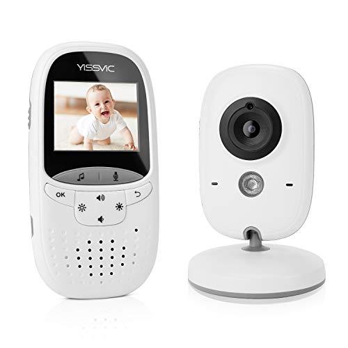 Yissvic Baby Monitor Babyphone Audio e Video Wireless con Visione Notturna Bambini per Videosorveglianza 2,4 GHz