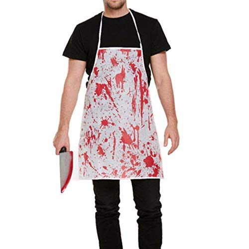 OGAWOO 2 STÜCKE Blutige Schürze Blut Splatter Horror Krankenschwester Chirurg Kleid Kostüm Festival Blutige Schürze Decor, 1