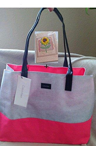 Calvin Klein Tasche Handtasche Tragetasche Farbe: Grau / Pink