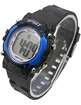 Kinder Kinder Uhren Digital Colorful Luminous Big LCD-Alarm Sport Armbanduhr Boy Girl WS @ ktw59u