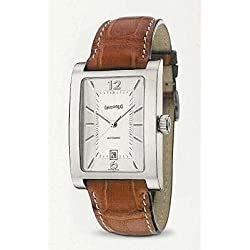 Eberhard The Clock courbees 41022_ CP _ M Automatic Silver quandrante Steel Leather Strap
