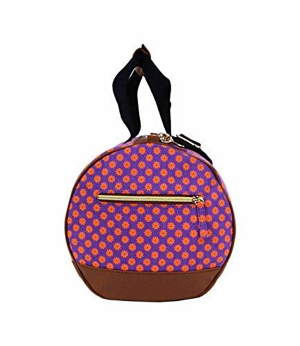 Tela Borsone Da Viaggio borsone Weekend notte da parete fiore stampa borsa QL6155M, Pink (rosa) - QL6155P Purple