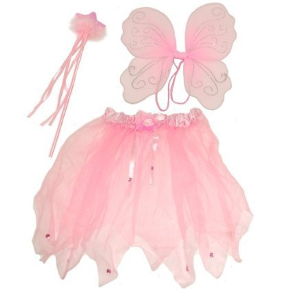 , Comprising Wings, Wand and Tutu, Ideal Dressing up , Fancy Dress. Fairy costume. ()