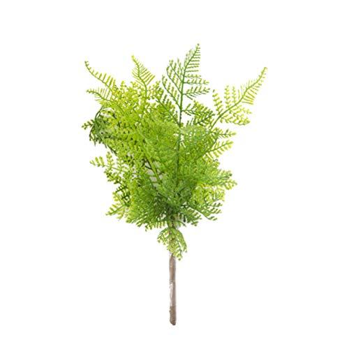 Vosarea artificiale foglia di felce piante verdi interno coperta di matrimonio 2pcs