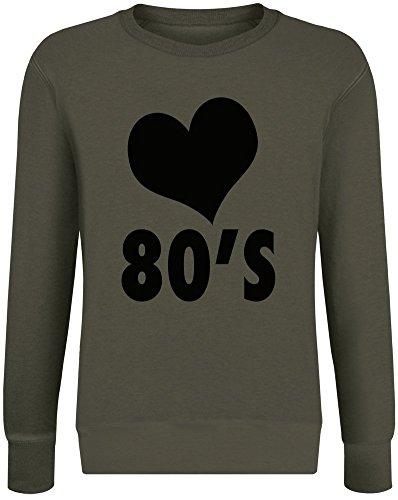 - I Love 80's Sweatshirt Jumper Pullover for Men & Women Soft Cotton & Polyester Blend Unisex Clothing X-Large ()