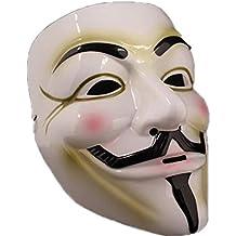 La Vogue Masque Anonymous V pour Vendetta Masque Guy Fawkes Cosplay 18*21CM Blanc