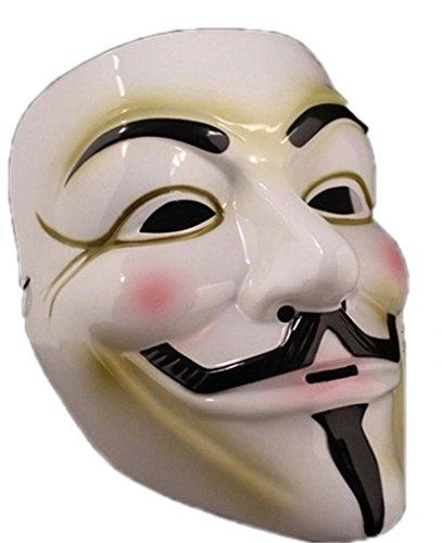 La vogue Maske wie V for Vendetta Mask für Kostüme Karneval Halloween Fasching Weiß